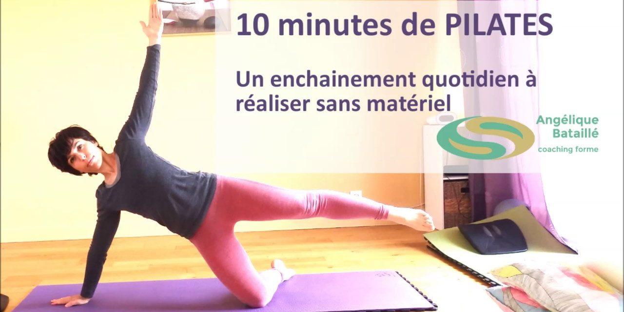 10 minutes de Pilates par jour pour améliorer sa Posture, son Bien-être