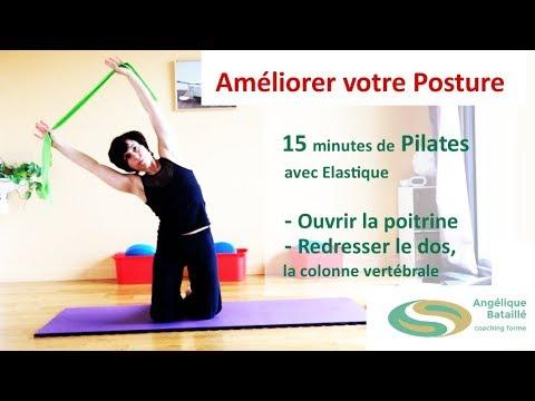 AMELIORER VOTRE POSTURE – 15 minutes de PILATES pour ouvrir la poitrine et redresser le dos