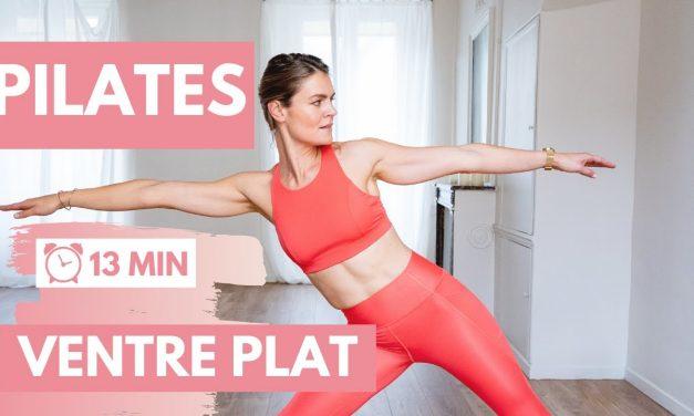 Routine PILATES 🙏🏼13 minutes pour un VENTRE plus PLAT !