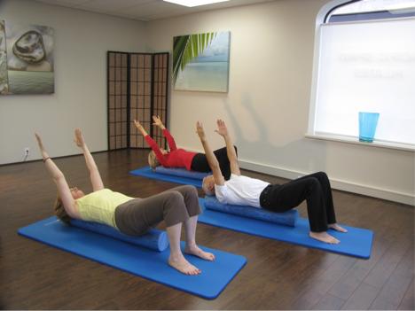 Cours sur tapis de Pilates